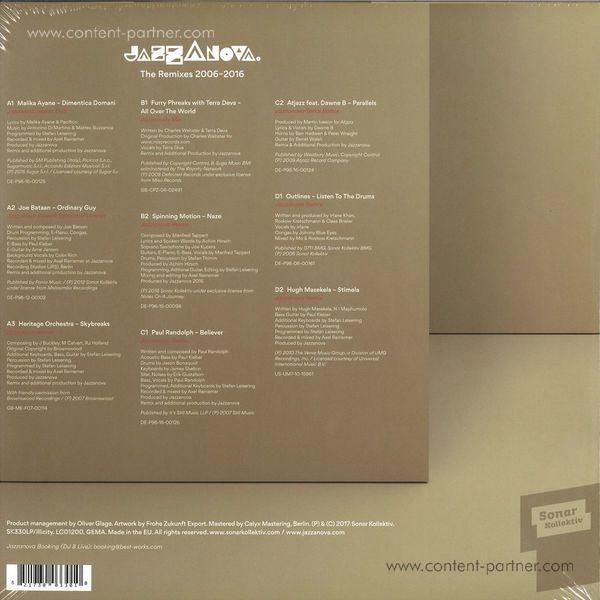 Jazzanova - The Remixes 2006-2016 (2LP Red) (Back)