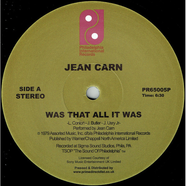 Jean Carn - Was That All It Was / Don't Let It Go to Your Head