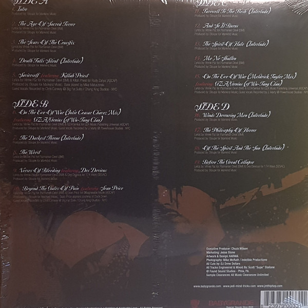 Jedi Mind Tricks - Legacy Of Blood (Ltd. Red Vinyl 2LP) (Back)
