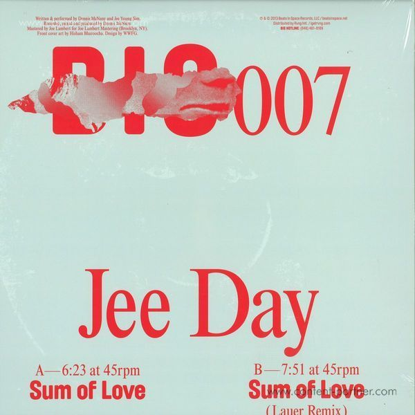 Jee Day - Sum Of Love (Back)