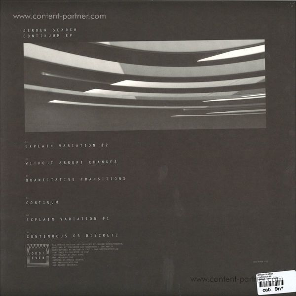 Jeroen Search - Continuum EP (Back)