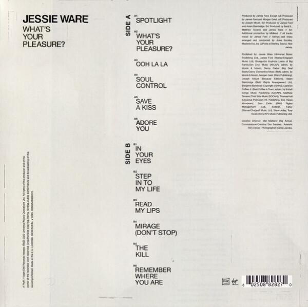 Jessie Ware - What's Your Pleasure (Vinyl) (Back)