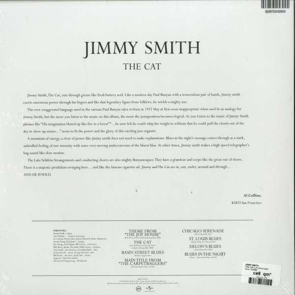 Jimmy Smith - The Cat (Reissue Vinyl LP) (Back)