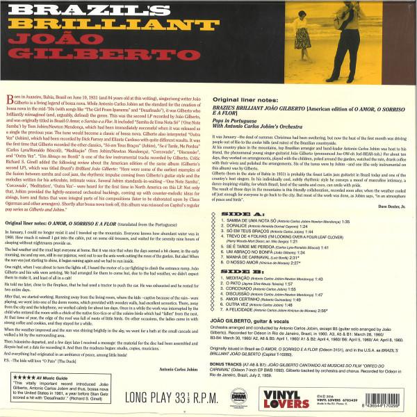Joao Gilberto - Brazil's Brilliant Joao Gilberto (Reissue) (Back)