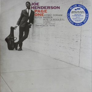 Joe Henderson - Page One (Classic Reissue Series) (Back)