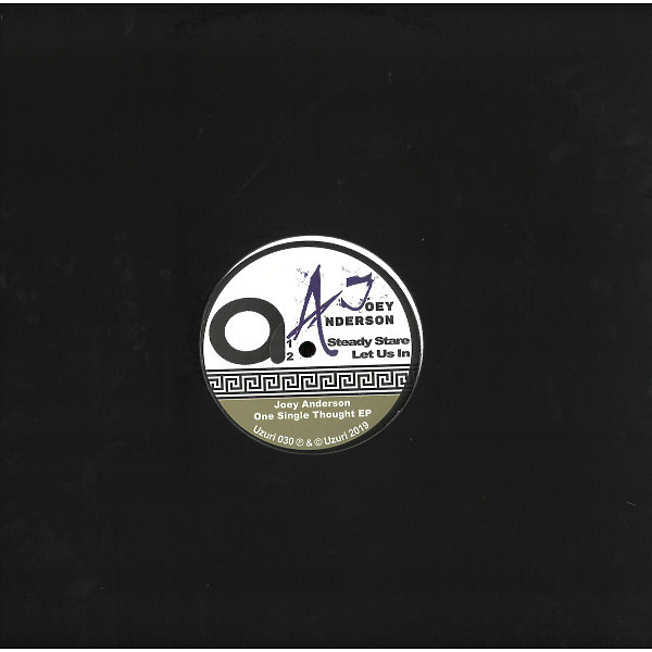 """Joey Anderson - One Single Thought (140 gram vinyl 12"""") (Back)"""