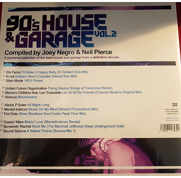 Joey Negro / Neil Pierce / Various Artists - 90s House & Garage Vol. 2 (Back)
