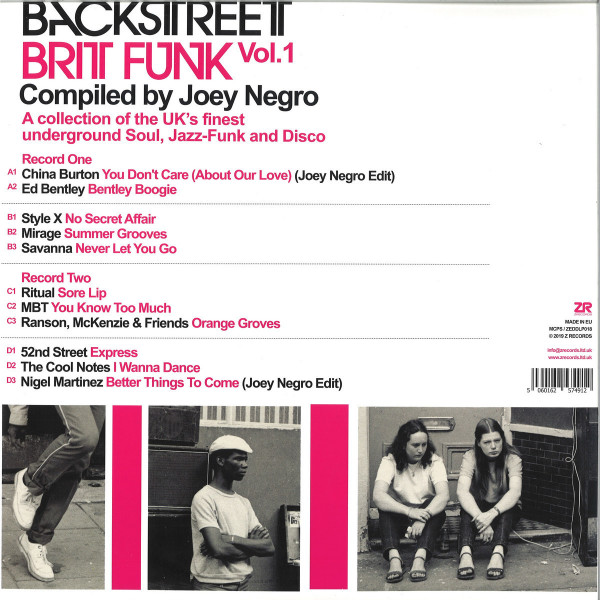 Joey Negro / Various Artists - Backstreet Brit Funk Vol. 1 (2LP reissue) (Back)