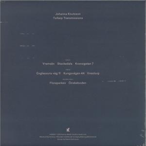 Johanna Knutsson - Tollarp Transmissions (Back)