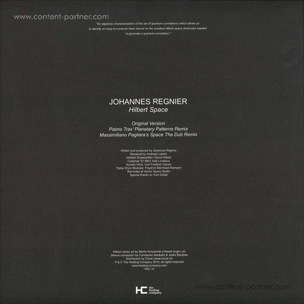 Johannes Regnier - Hilbert Space (Back)