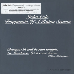 John Cale - Fragments Of A Rainy Season (2LP+MP3)