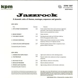 John Cameron - Jazzrock (KPM Reissue 2019, 180g) (Back)