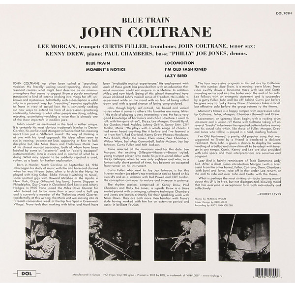John Coltrane - Blue Train (LP) (Back)