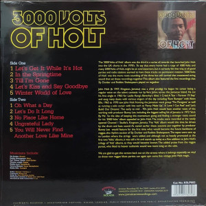 John Holt - 3000 Volts Of Holt (LP reissue) (Back)