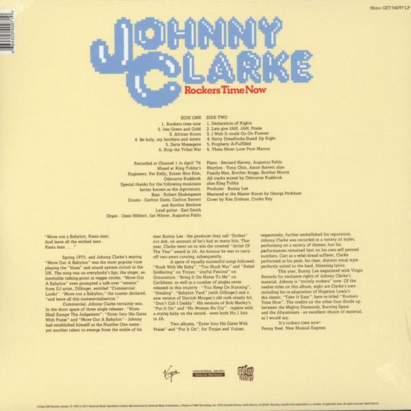 Johnny Clarke - Rockers Time Now (LP) (Back)