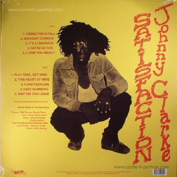 Johnny Clarke - Satisfaction (LP) (Back)