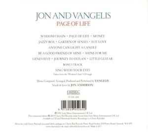 Jon And Vangelis - Page Of Life (Remastered Edition) (Back)