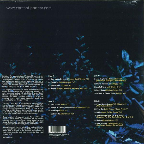 Jon Hopkins - Late Night Tales - V.A. (2LP + MP3) (Back)