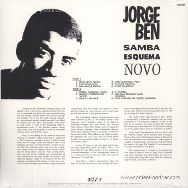 Jorge Ben - Samba Esquema Novo (LP+CD) (Back)