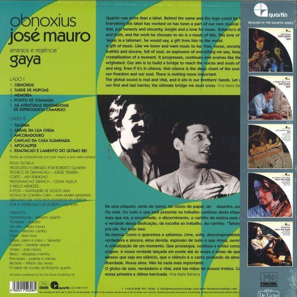 José Mauro - Obnoxius (180g LP with OBI-Strip) (Back)