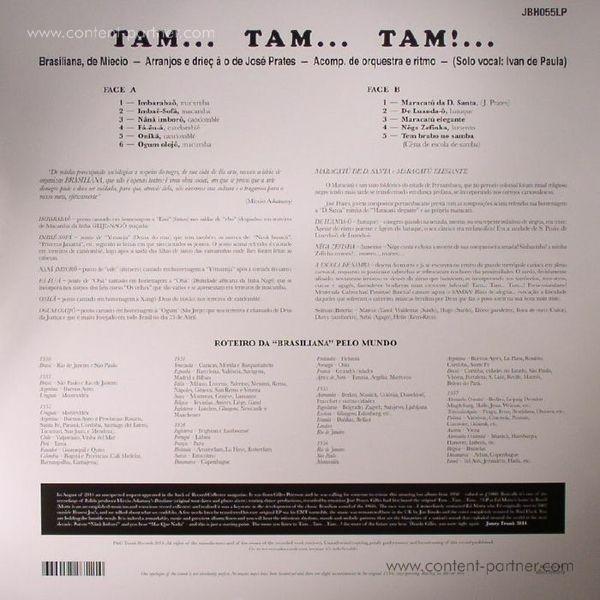 José Prates - Tam... Tam... Tam...! (Reissue) (Back)