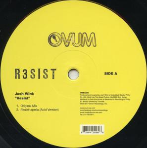 Josh Wink - Resist (Back)