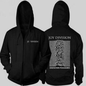 Joy Division - Unknown Pleasures BLACK - UNISEX ZIPPED HOODIE XL