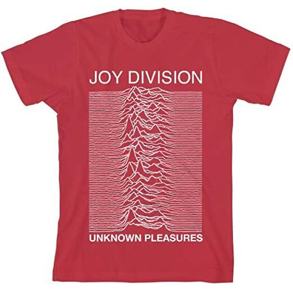 Joy Division - Unknown Pleasures RED - UNISEX Tee L