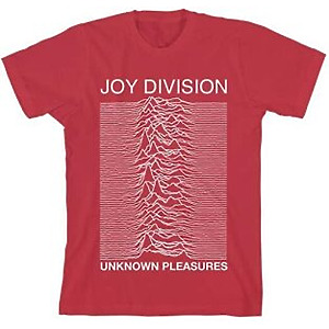 Joy Division - Unknown Pleasures RED - UNISEX Tee S