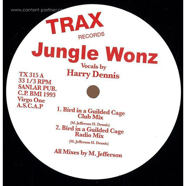 Jungle Wonz (marshall Jefferson) - Bird In A Guilded Cage