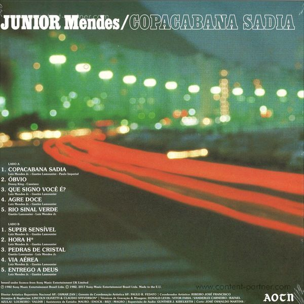 Junior Mendes - Copacabana Sadia (LP) (Back)