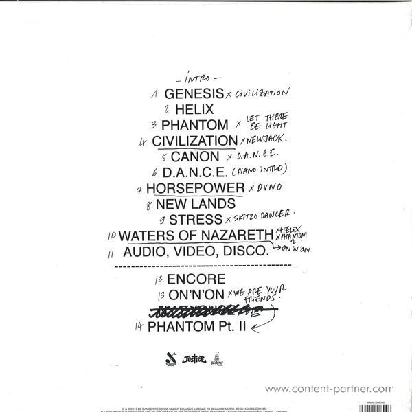 """Justice - Access All Arenas (2017edition, 2x12"""") (Back)"""