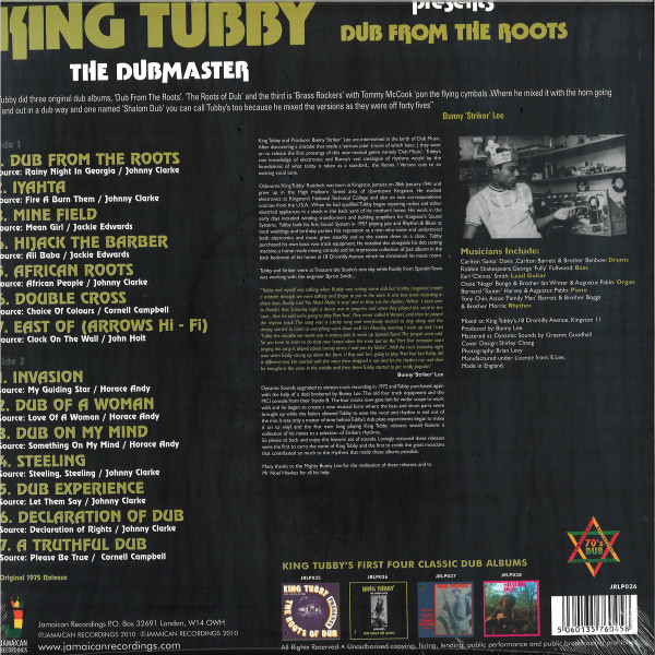 KING TUBBY - DUB FROM THE ROOTS (Back)