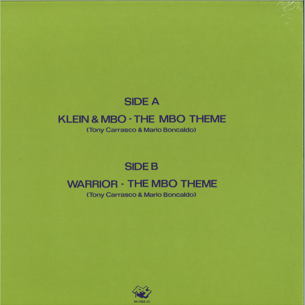 KLEIN & MBO - THE MBO THEME (Back)