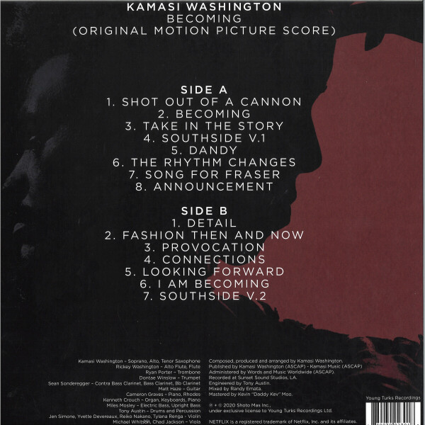 Kamasi Washington - Becoming (Vinyl LP) (Back)