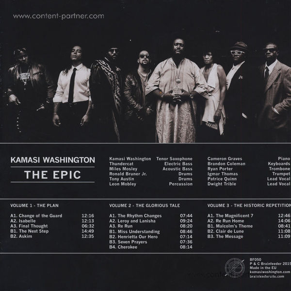 Kamasi Washington - The Epic (3LP + MP3) (Back)