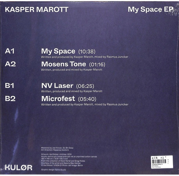 Kasper Marott - My Space EP (Back)
