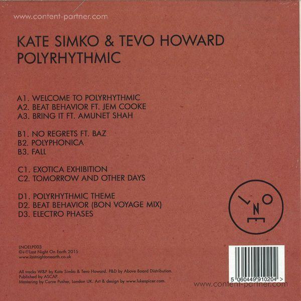 Kate Simko & Tevo Howard - Polyrhythmic LP (Back)