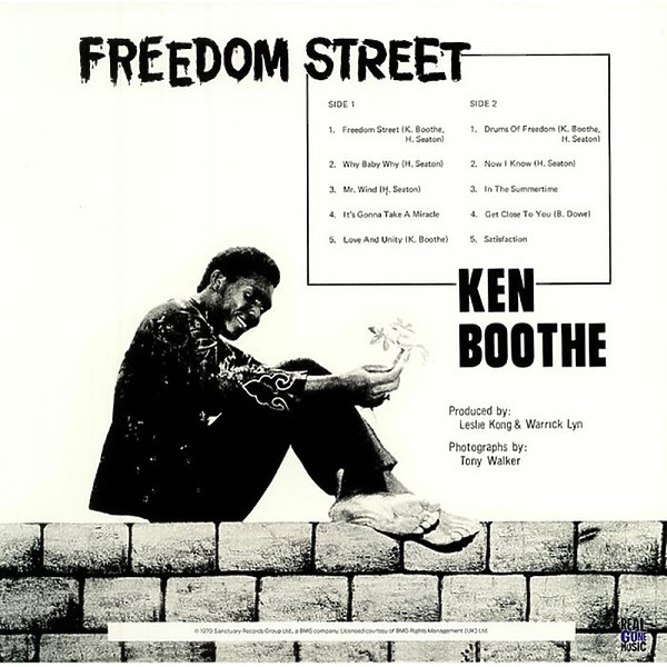 Ken Boothe - Freedom Street (Ltd. grey vinyl re-release) (Back)