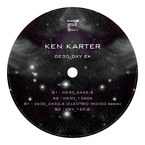 Ken Karter - DE30_DXY EP (incl. Electric Indigo Remix) (Back)