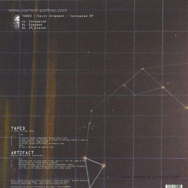 Kevin Arnemann - Concealed EP (Back)