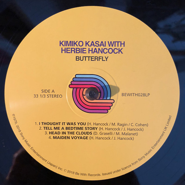 Kimiko Kasai with Herbie Hancock - Butterfly (2020 Repress) (Back)