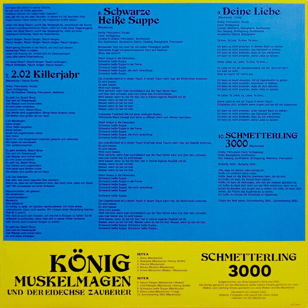 King Gizzard & The Lizard Wizard - Butterfly 3000 (German Cover) (Back)