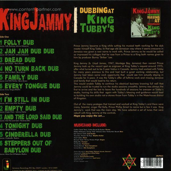 King Jammy - Dubbing At King Tubby's (Back)