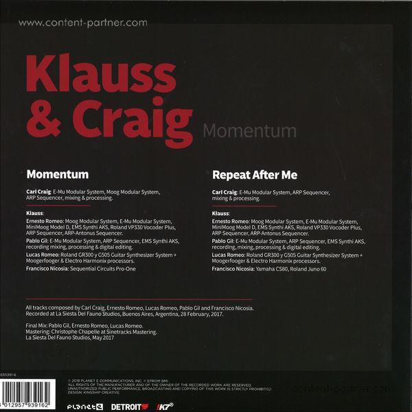 Klauss & Craig - Momentum (Back)