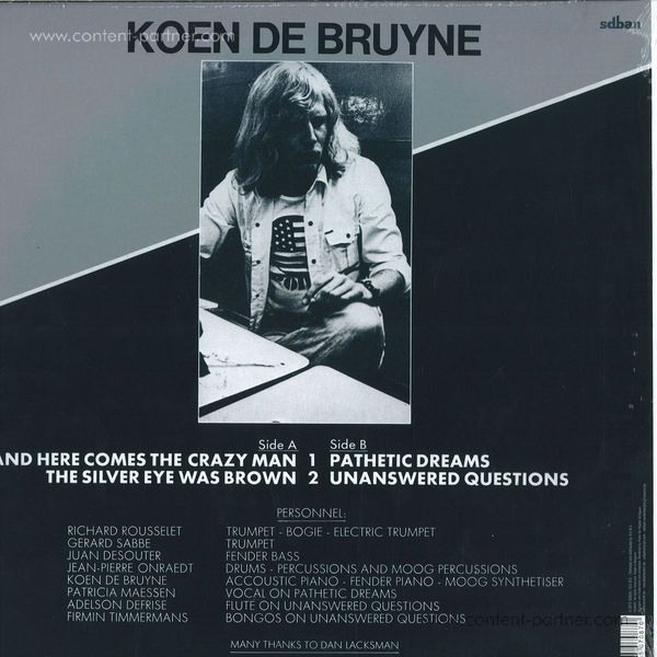 Koen De Bruyne - Here Comes The Crazy Man! (Back)