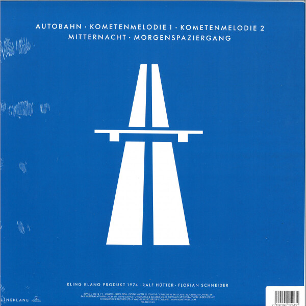 Kraftwerk - Autobahn (Ltd. Blue Coloured LP) (Back)