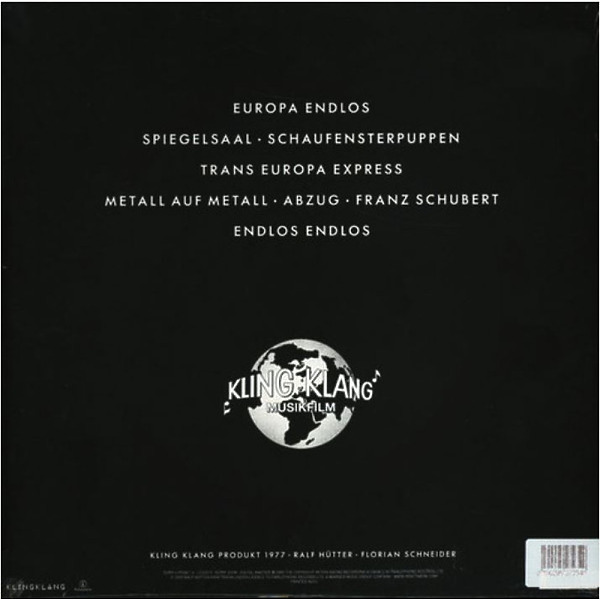 Kraftwerk - TRANS EUROPA EXPRESS (German Version, Clear Vinyl) (Back)