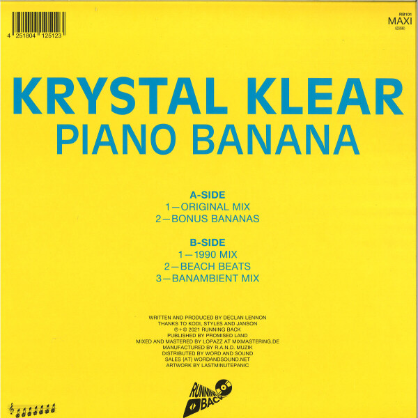Krystal Klear - Piano Banana (Back)