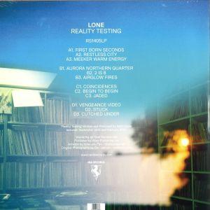 LONE - Reality Testing (Ltd. Ed. Repress, Clear Vinyl) (Back)